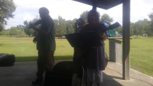 Outdoor worship with special music from Free Range